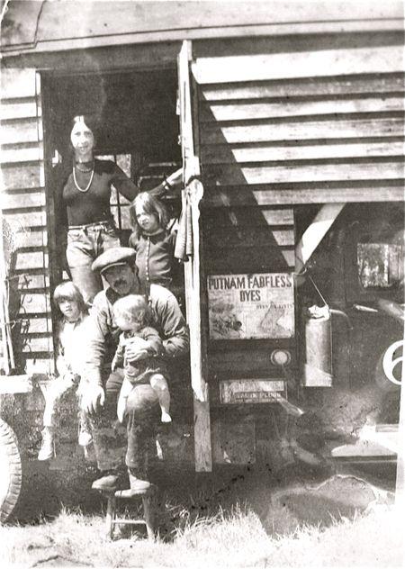 Gypsy wagon family photo